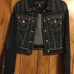 Pre-Owned Miss Me Denim Jean Jacket